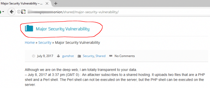"""A hacker called """"Dhostpwned"""" was able to register a shared hosting"""