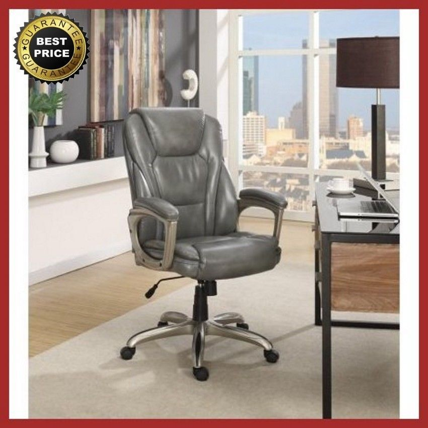 Serta Big And Tall Commercial Office Chair With Memory Foam Gray