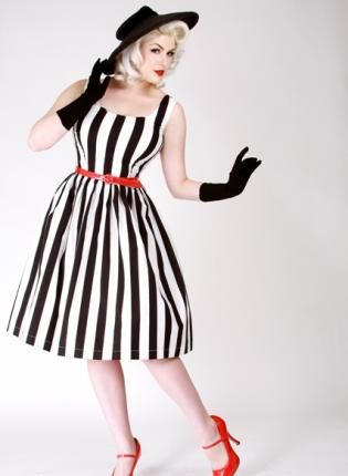 {black white stripe} vintage-inspired frock