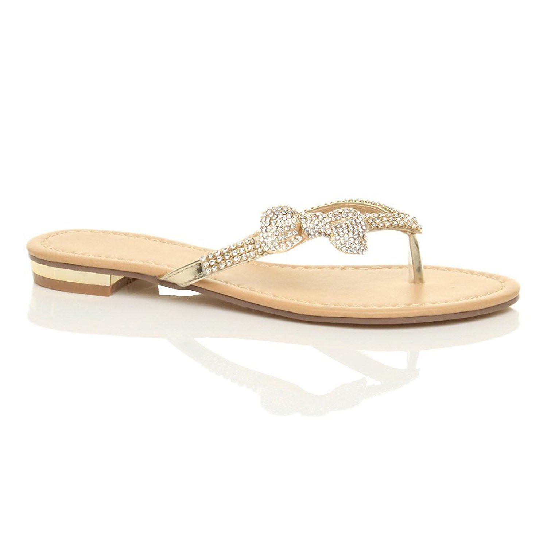 b51e0d457e2b Ajvani Women s Rhinestone Summer Sandals Size     Read more at the image  link.