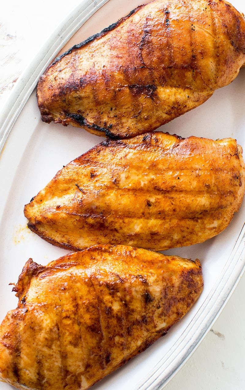 Learn how to grill boneless skinless chicken breasts so they stay juicy and don't get dried out, it's easy! On SimplyRecipes.com