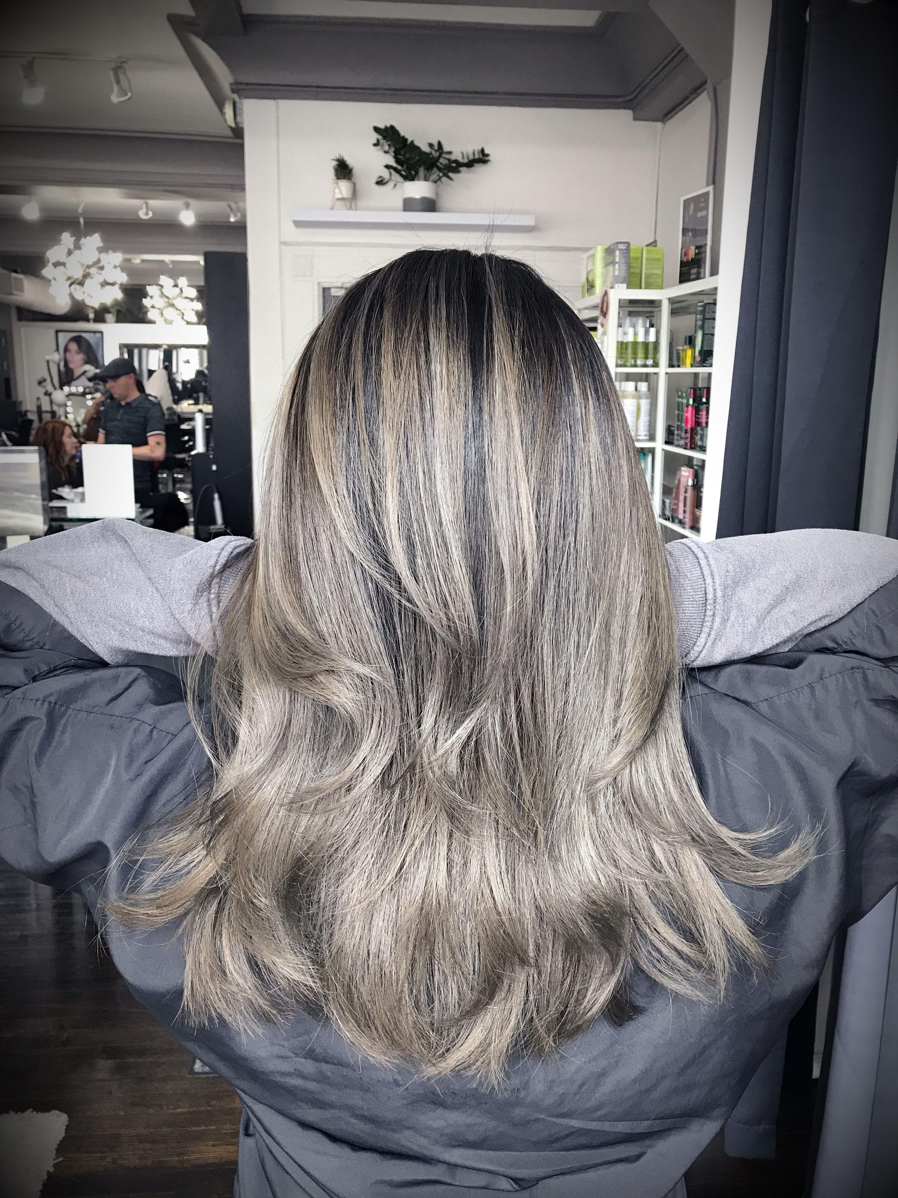 Silver hair   Big hair, Long layered haircuts, Silver hair