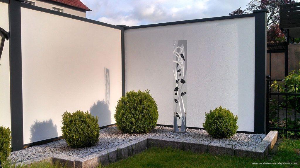 verputzte umfriedung l rmschutzmauer l rmschutzwand. Black Bedroom Furniture Sets. Home Design Ideas