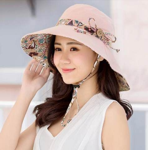 NEW Fashion Floral Design Large Wide Brim Foldable UV-Resistant Summer  Beach Hat 5 Colors  33669dffcf0e