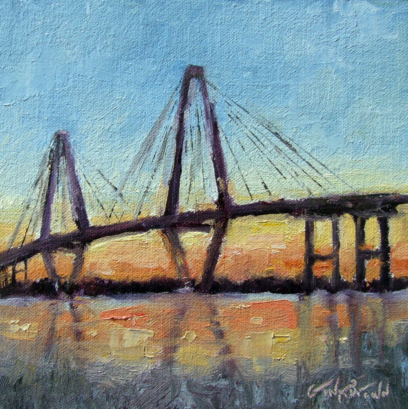 Arthur Ravenel Bridge at Sunset