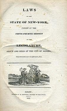 Book of Laws - New York, 1831