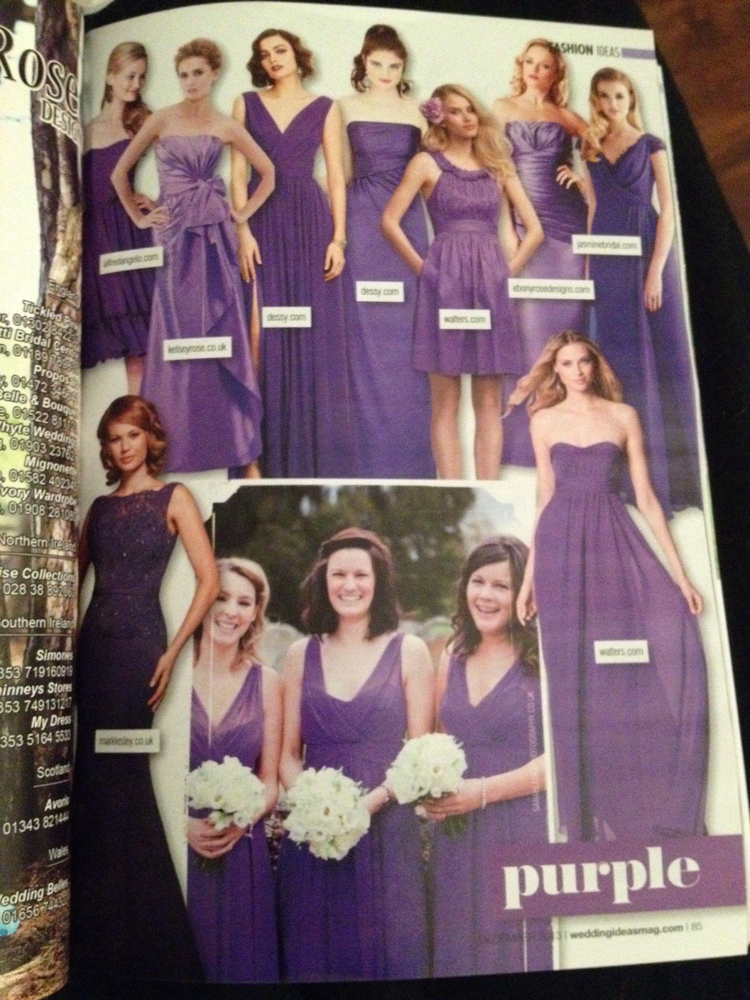 Purple bridesmaid dresses | MeaMea\'s wedding | Pinterest | Bridal ...