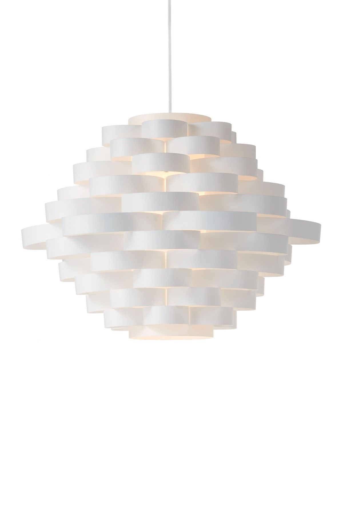 Torre u tagus white linear sphere pendant lamp with hanging cord