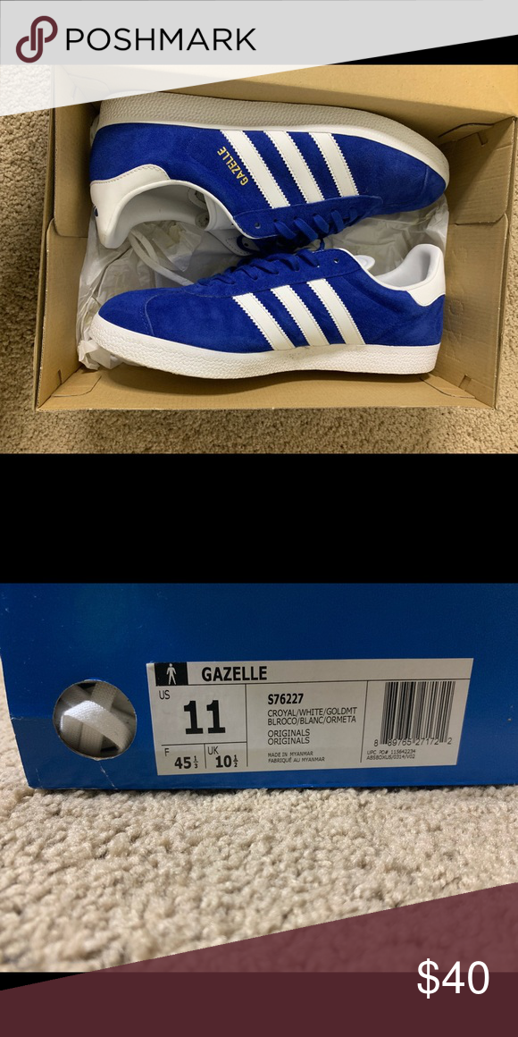 Like new Adidas Gazelles . Size 11.   White casual sneakers ...