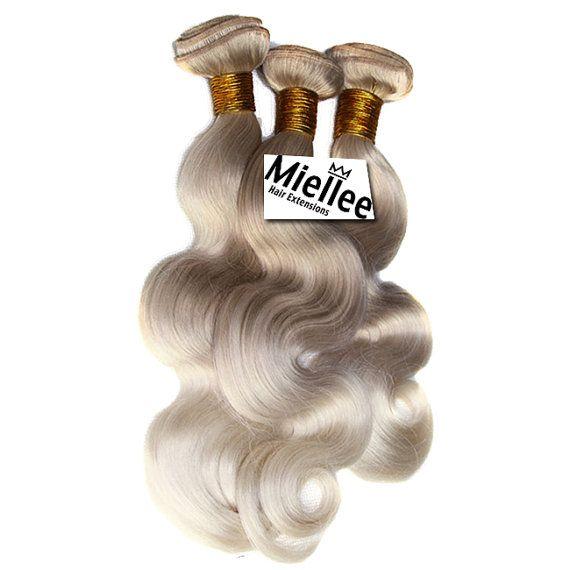 Medium Ash Blonde Balayage Weave Hair Extensions Silky Straight