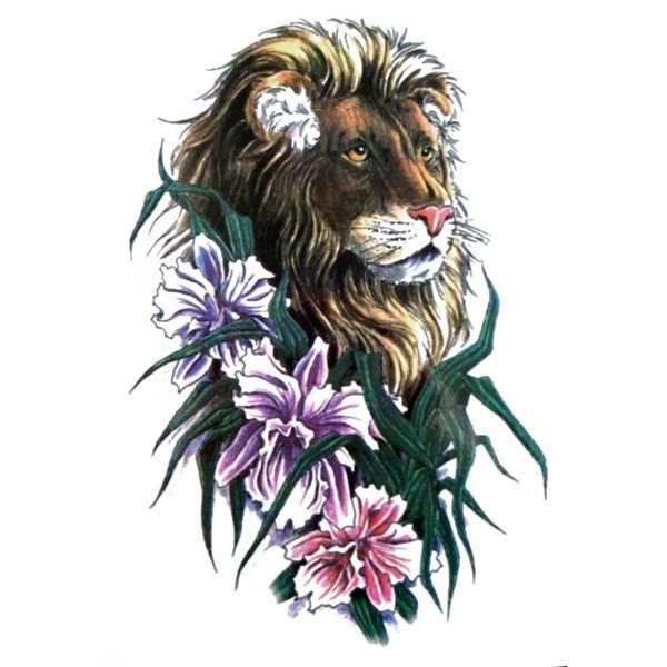 Beauty Lion #tattoo #lion #flower #ink | Tattoos | Body ...