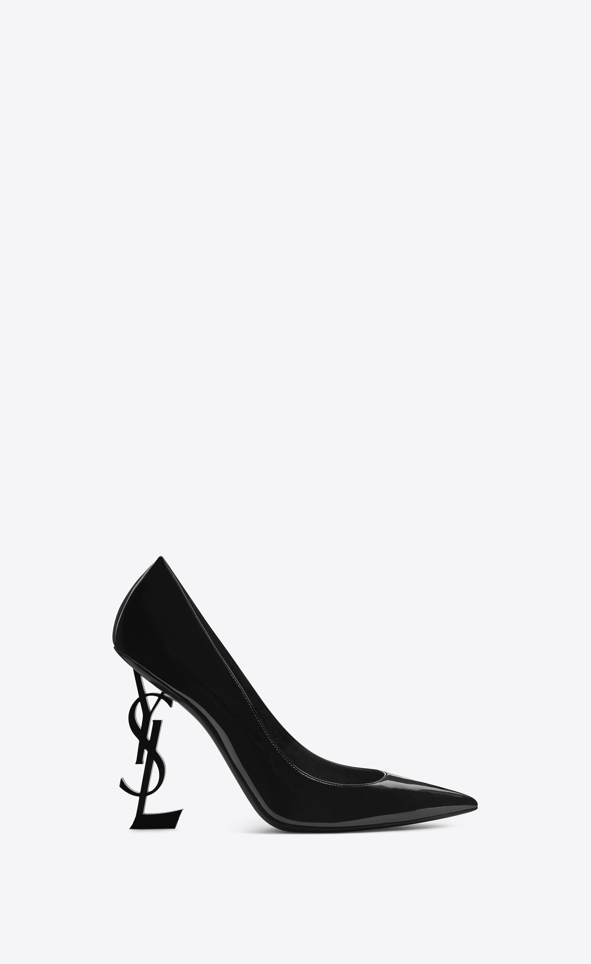 335be71006f3  Saint Laurent Opyum Pump In Patent Leather With Black Heel