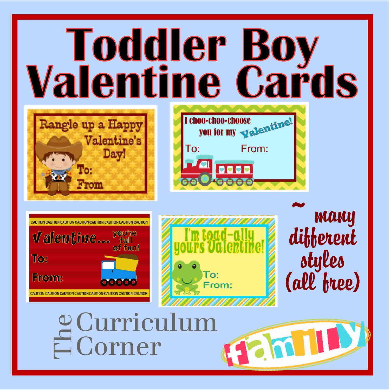 Free Printable Toddler Boy Valentine Cards