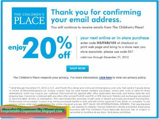 Free Printable Childrens Place Coupons Childrens Place Coupons Printable Coupons Free Printable Coupons