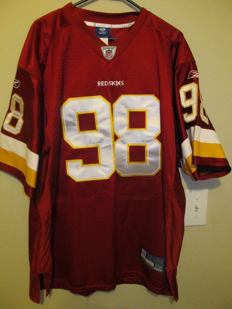 c71c28376 Vintage Brian Orakpo - Washington Redskins Authentic jersey - Reebok Adult  52 #Reebok #WashingtonRedskins