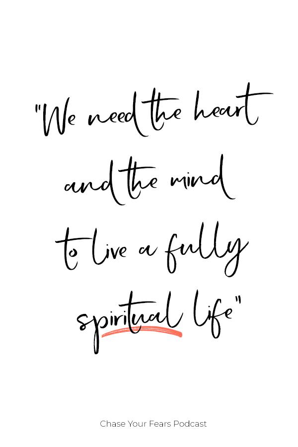 Living a spiritual life can sometimes feel like you are