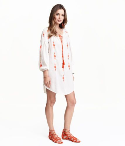 H-M-vestido-bata-cor-marfim-claro-detalhes-em-laranja-numero-38-Brasil