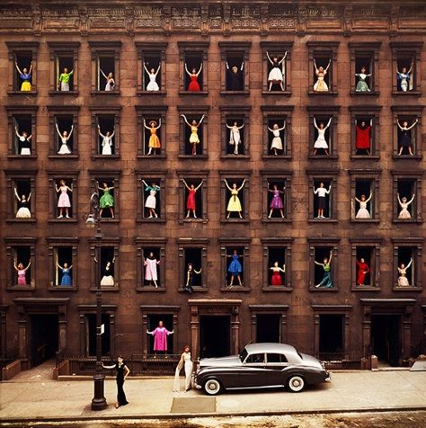 Ormond GIGLI Girls in the windows, New-York, 1960