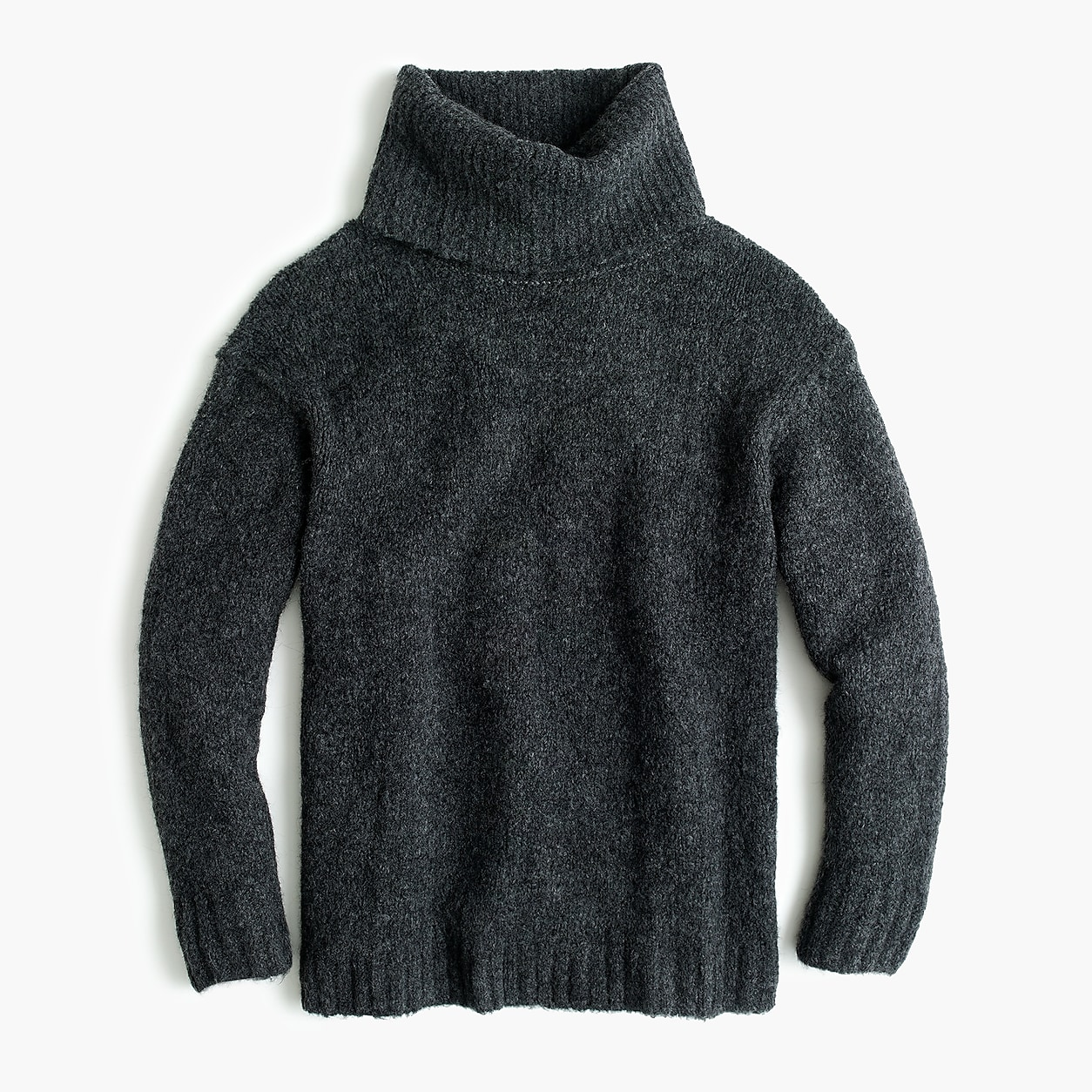 079c7401a78 Bouclé Oversized Turtleneck Sweater