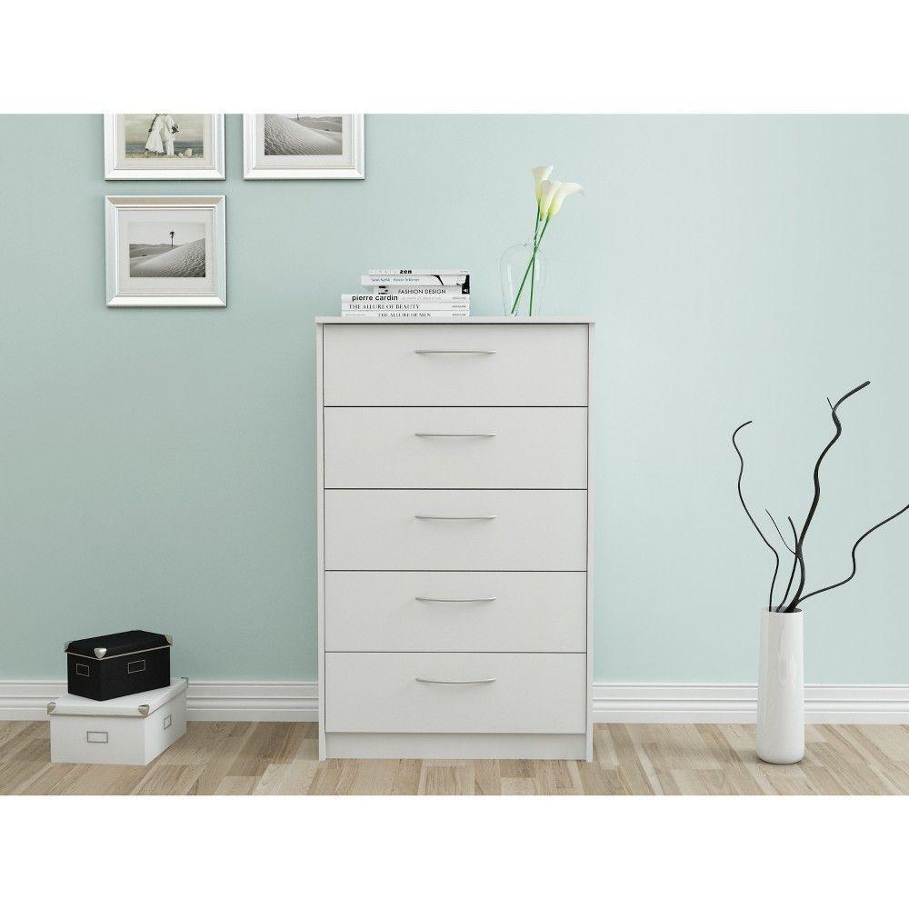 Best Addison 5 Drawer Chest Off White Loft 607 *D*Lt Unisex 640 x 480