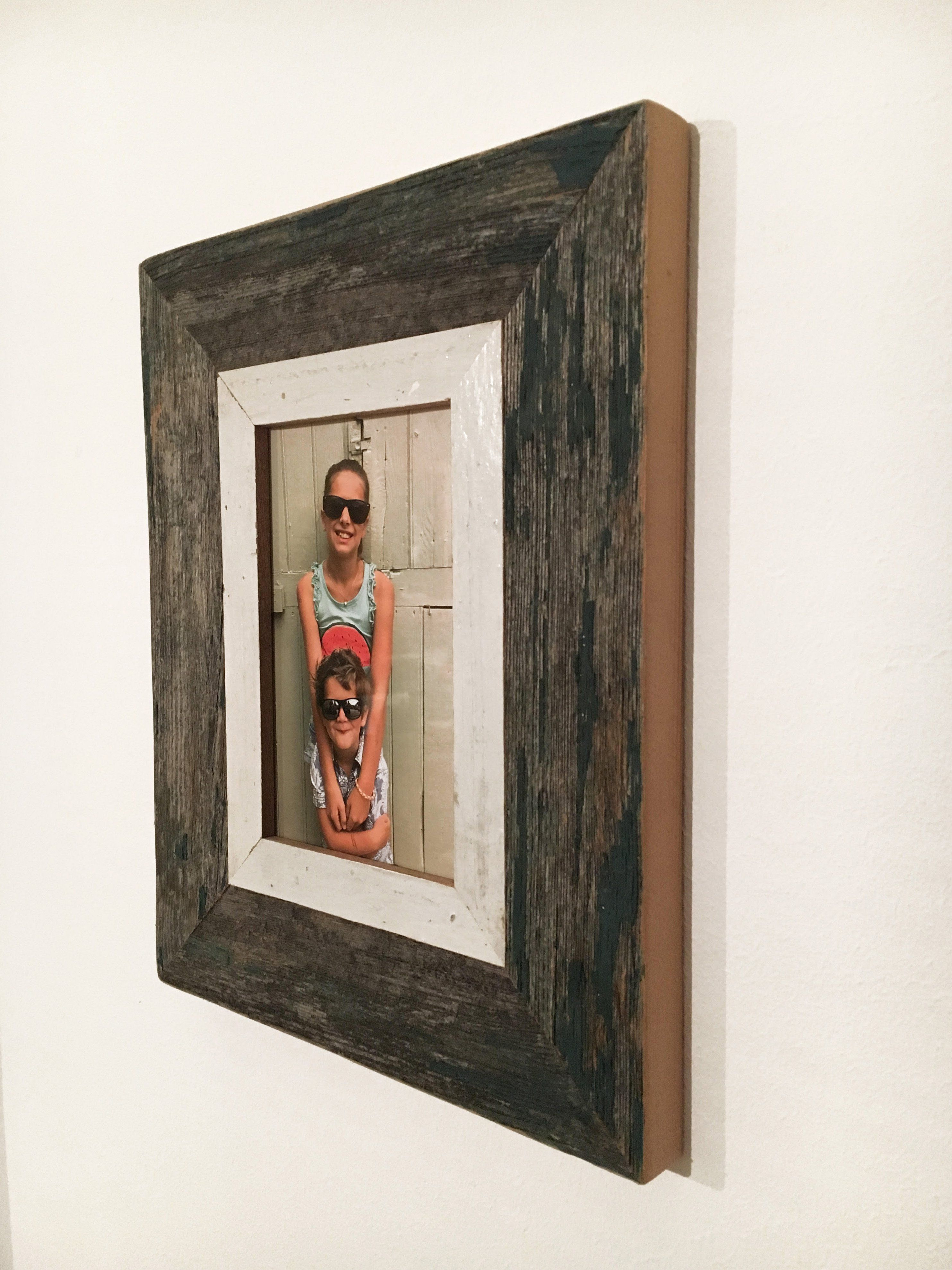 Handmade Frame 30 X 22 Cmreclaimed Woodoriginal Patinapicture Size