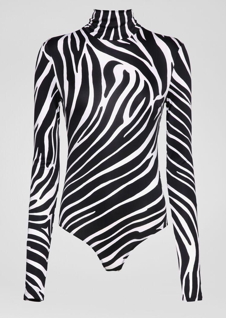 Versace Zebra Print Bodysuit 995 Zebra Print Clothes Print