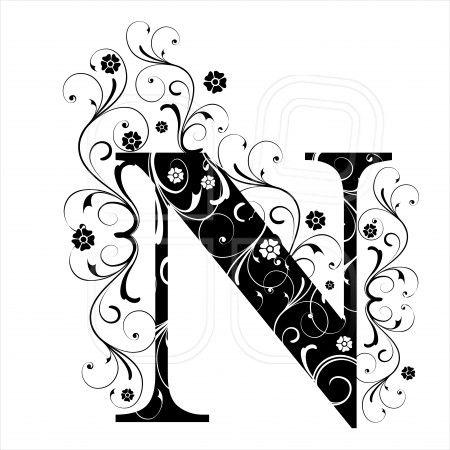 Letter Capital N Alphabet Arabic Art