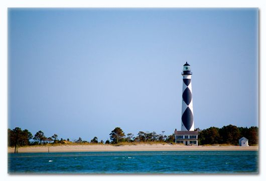 This is a little boat cruise that goes to Cape Lookout--so not just the lighthouse, but a little history lesson, too!