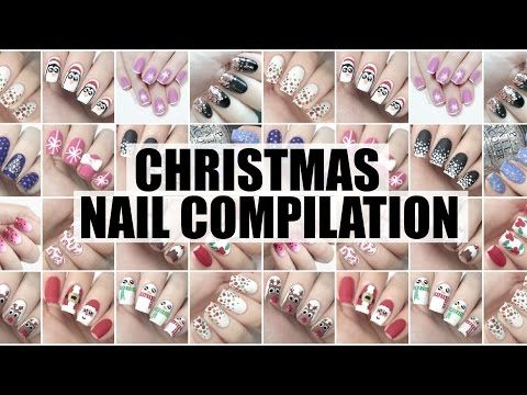 Winter christmas holiday nail art compilation meliney how to winter christmas holiday nail art compilation meliney how to full tutorial youtube prinsesfo Gallery
