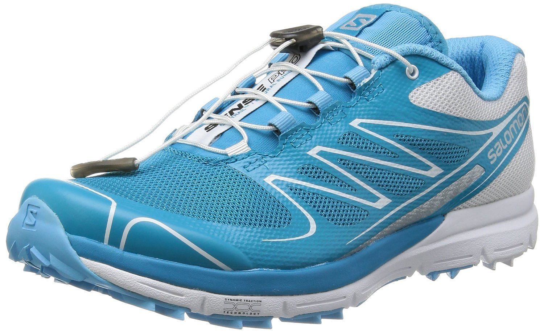 sale retailer 5a067 b99f4 Salomon L36211300 Sense Pro Shoe - Womens Boss Blue   White Silver Met 7.5