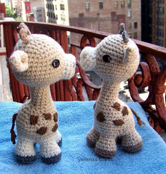 Baby Giraffe Instant Download Crochet Pattern Toy By Elenastimes