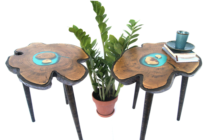 Pin By Unusualthingsbyolga On My Etsy Small Wood Bedside Table Wood Slab Live Edge Wood [ 2035 x 3000 Pixel ]