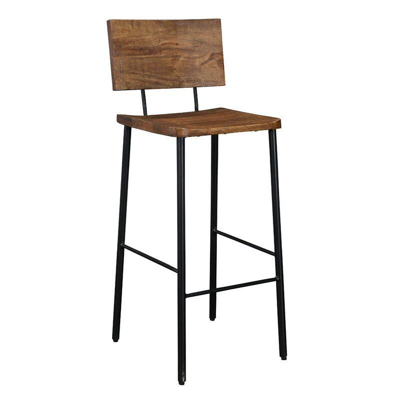 Union Rustic Tessa 30 Bar Stool Wayfair Bar Stools Counter Stools Wood Counter Stools