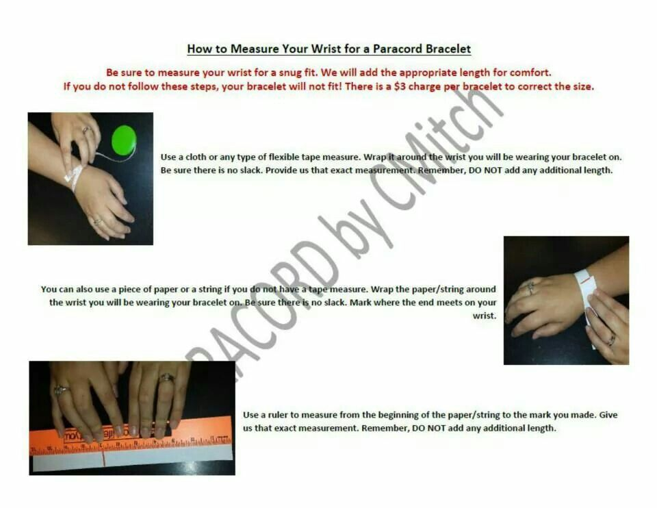 How to measure your wrist for a paracord bracelet.