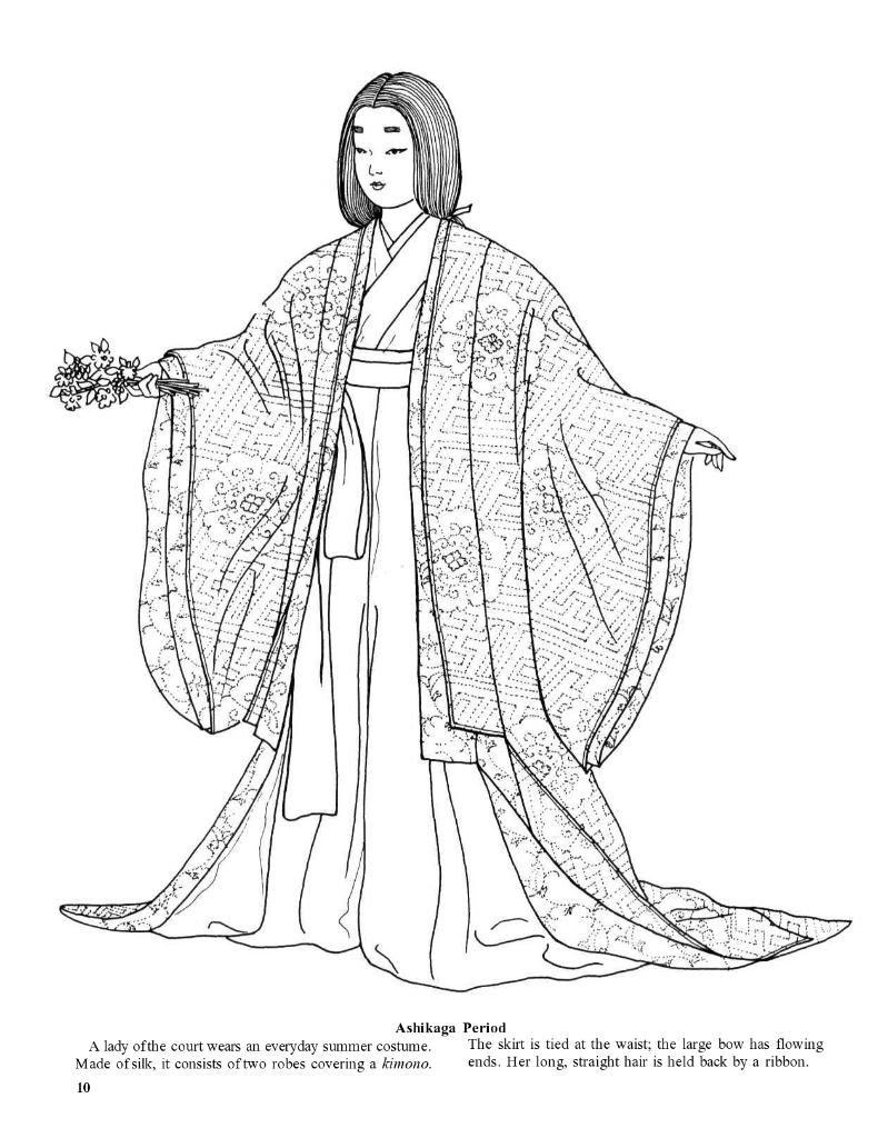 Japanese Fashions By Ming Ju Sun Dover Japan Kleurplaten Tekenen