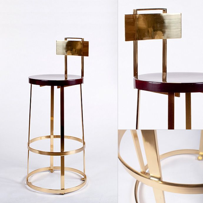 Bar Stool Polished Brass Ger Architectural