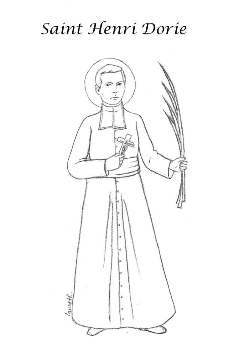 St. Henri / Pierre-Henri Dorie Coloring Page, a missionary