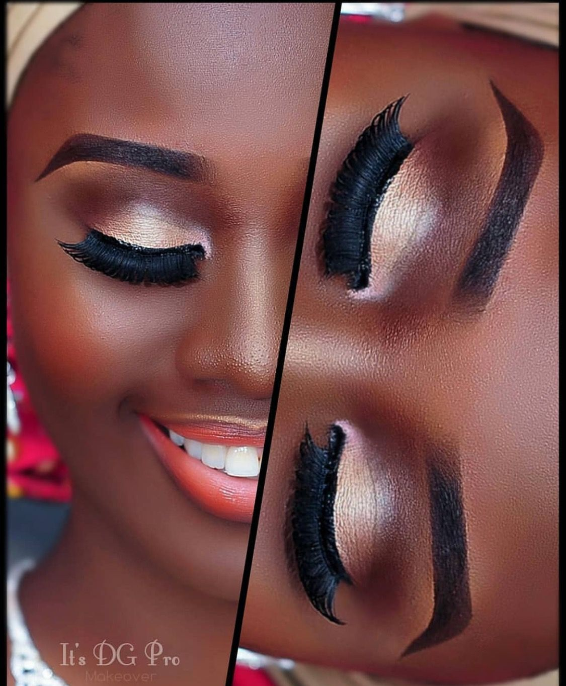 Makeup eye Dramatic for dark skin pictures fotos
