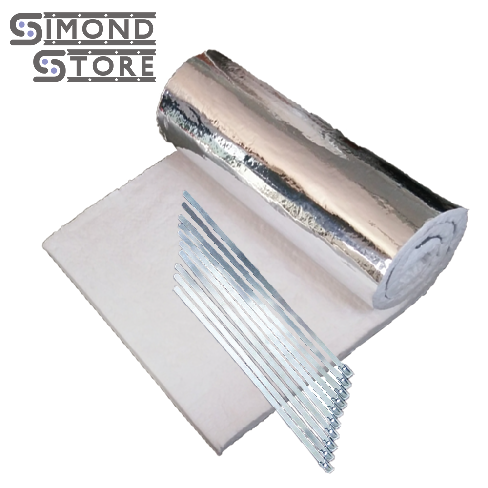 Foil Insulation Blanket Simwool Heat Shield Blanket Is An One Side Aluminium Foil Faced