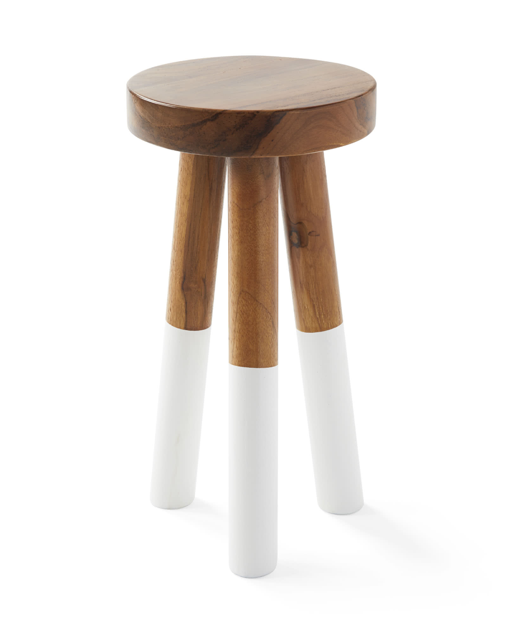 Serena Lily Dip Dyed Stools Painted Stools Glossy Paint Stool