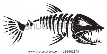 fish skeleton clipart free clipart template pinterest rh pinterest com fish skeleton clipart fish skeleton clip art images