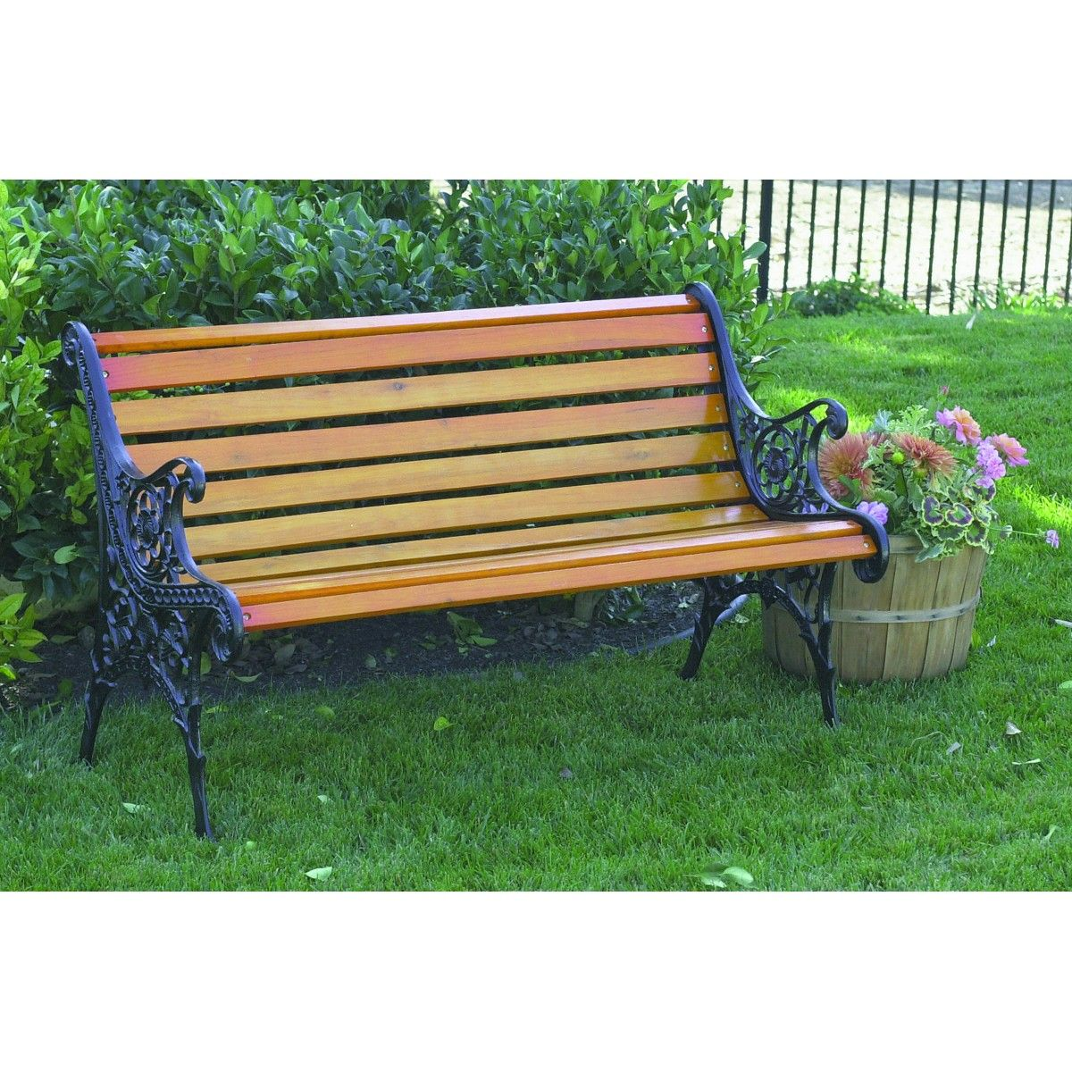 The 12 Slat Park Bench From Harbor Freight Tools Will Add Charm To Your Porch