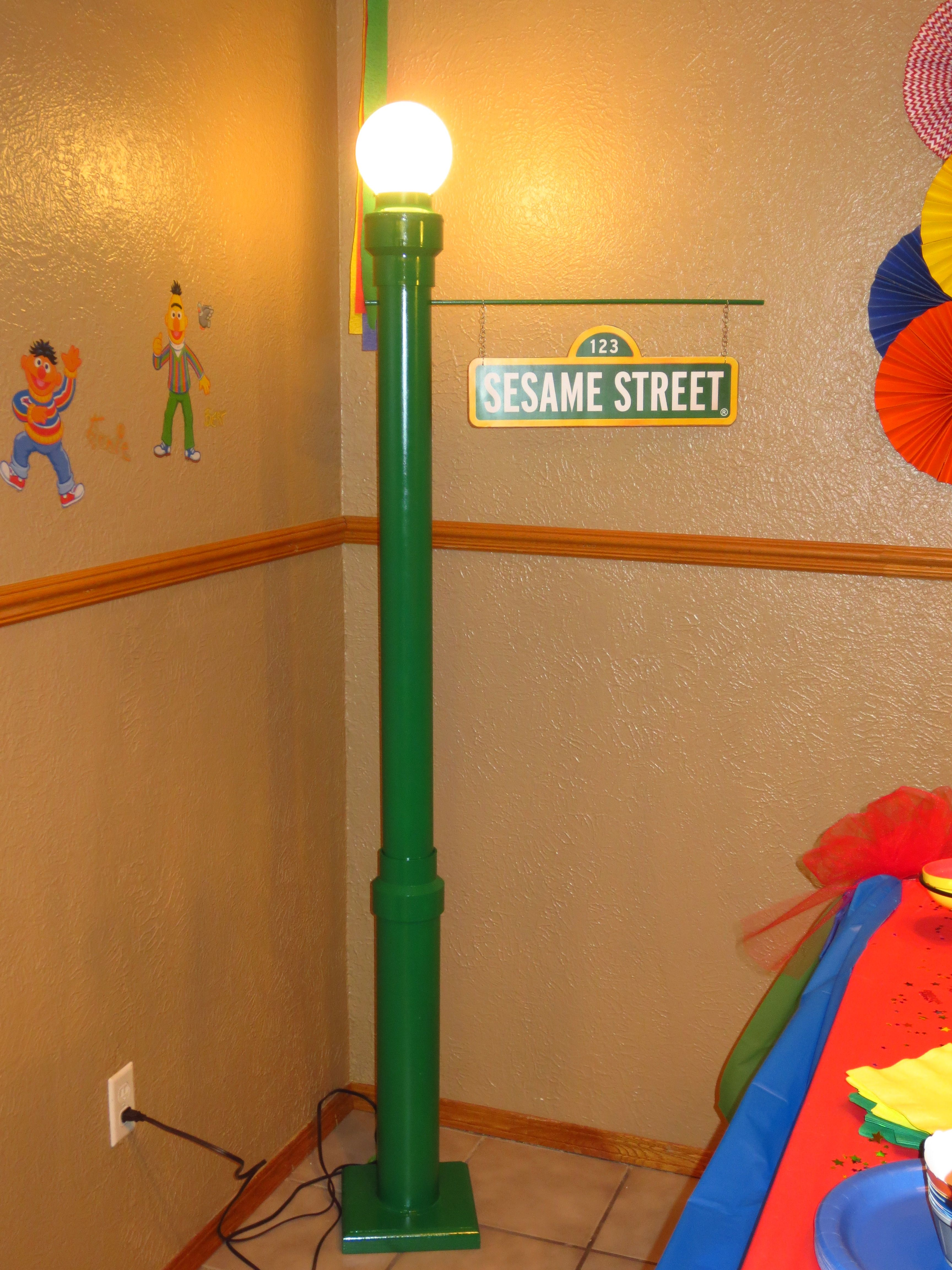 I think our sesame street lamp post turned out awesome check out i think our sesame street lamp post turned out awesome check out more pictures of aloadofball Choice Image