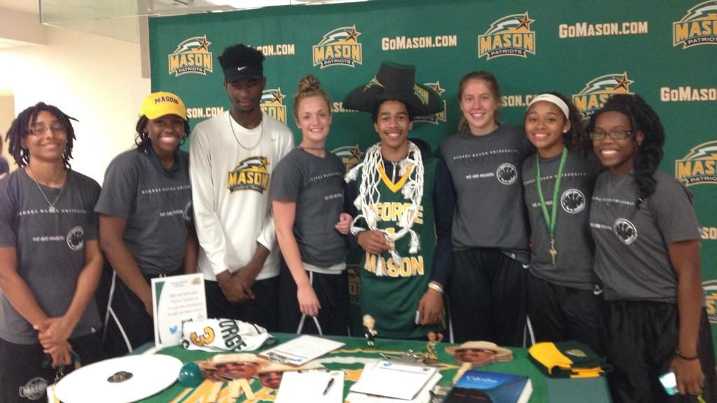 Thanks to @MasonWBB and @MasonMBB who came out to Rock The RAC last night. #GMU19 Join us @ http://bit.ly/platoon1516