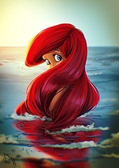 Walt Disney Fan Art - Princess Ariel #disneycharacters