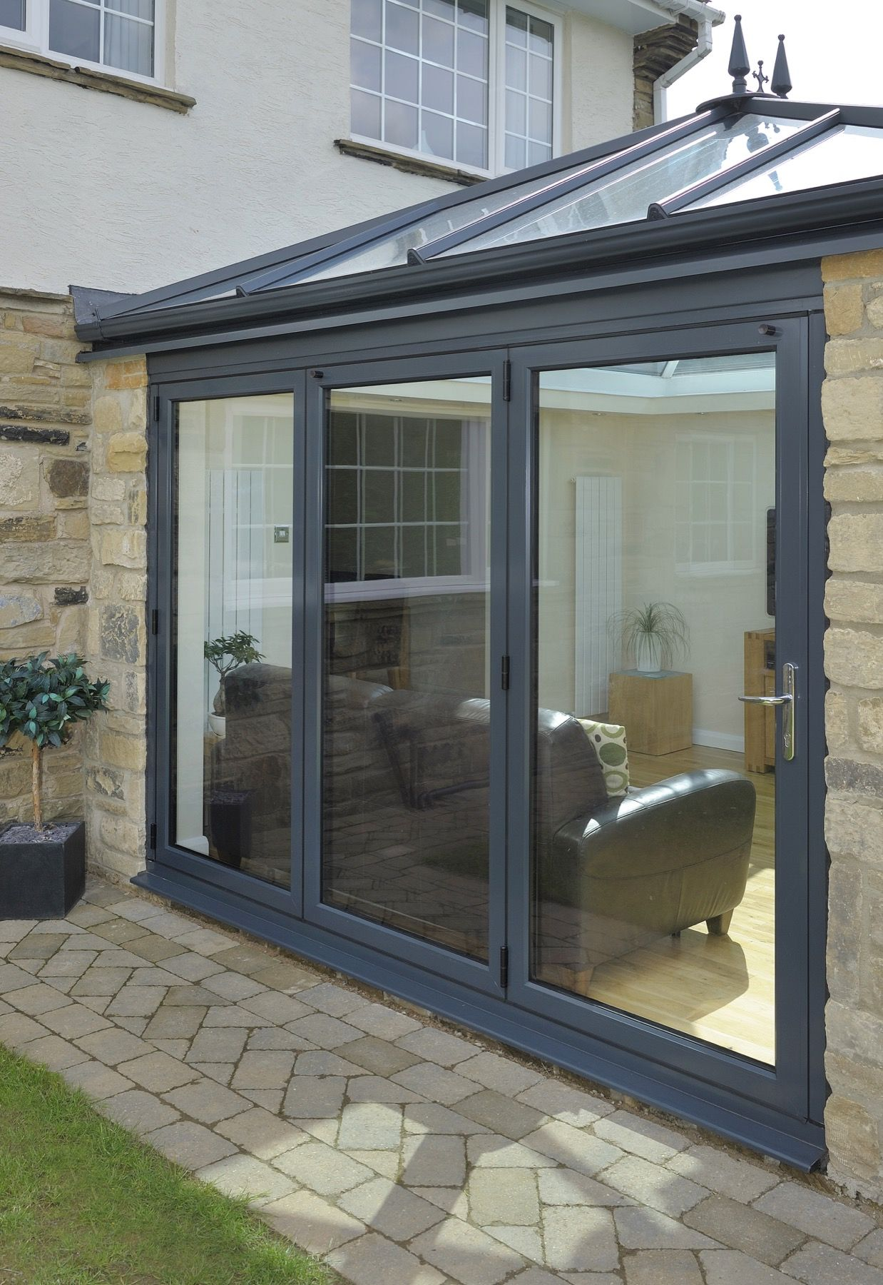 Gable end window ideas  bifolding doors in hampshire  get a free quote today  wessex