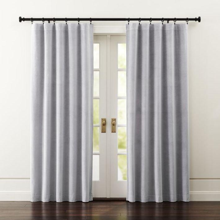 Luxurious Light Grey Velvet Curtain Panels Frame Windows In A Lush Plush Light Grey Made Of 100 Cotton Velvet T