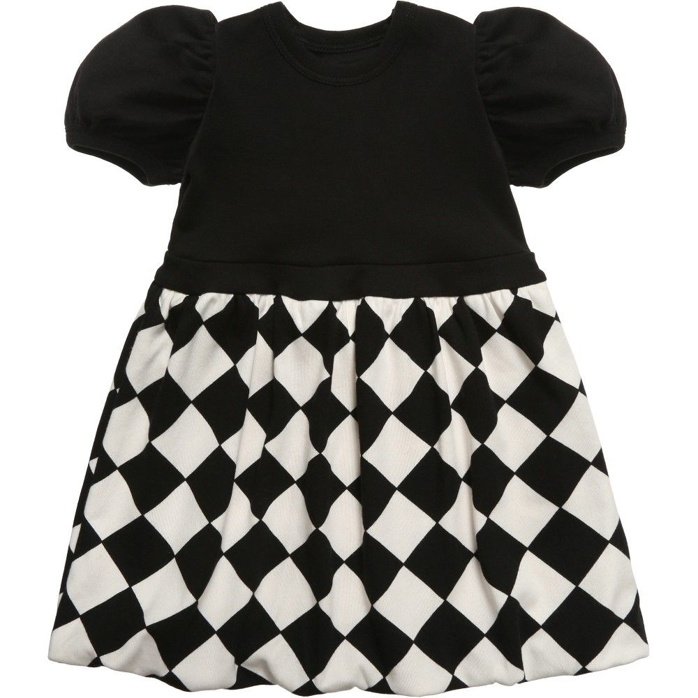 The Tiny Universe Black White The Tiny Chess Jersey Dress At