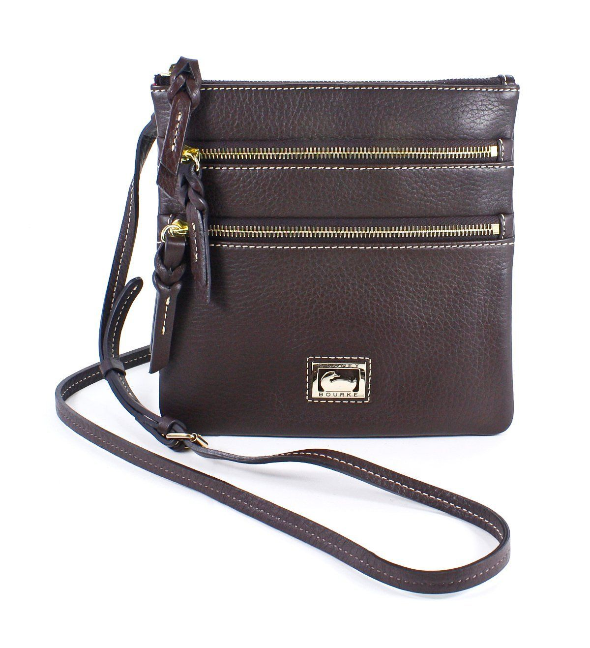 Dooney & Bourke Dillen II North/South Triple Zip, Brown T-Moro