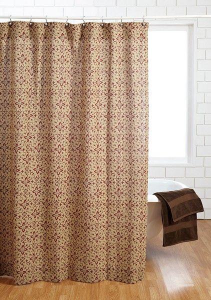 Lewiston Printed Burlap Shower Curtain